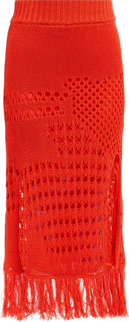 Altuzarra Benedetta crochet cotton-blend midi skirt