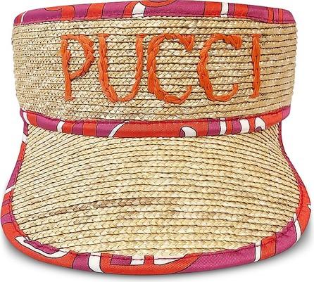 Emilio Pucci Signature Natural Straw Women's Tennis Visor