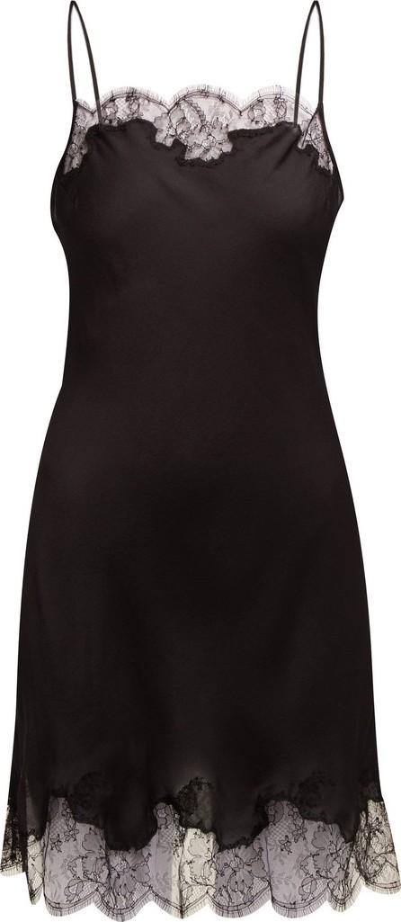 CARINE GILSON Lace-trimmed silk-satin slip dress