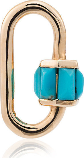 14k yellow gold Total Baguette Babylock with turquoise Marla Aaron 6PT0WWX