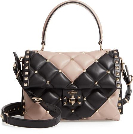 Valentino Candystud Matelassé Leather Satchel