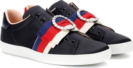 Gucci Ace embellished satin sneakers