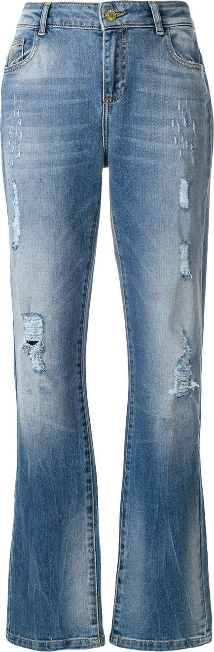 Essentiel Antwerp Distressed straight-leg jeans