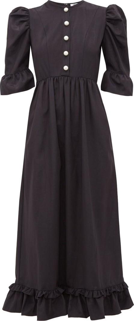 Batsheva Puff-sleeve moiré dress