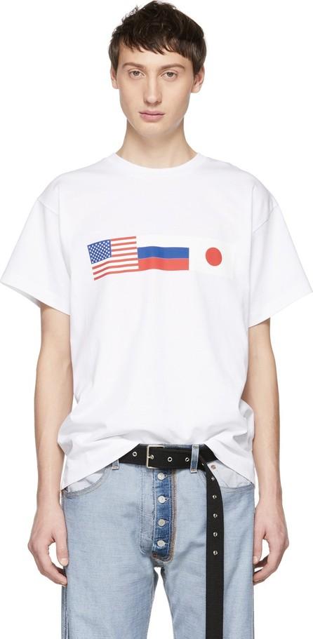 Gosha Rubchinskiy White Flag T-Shirt