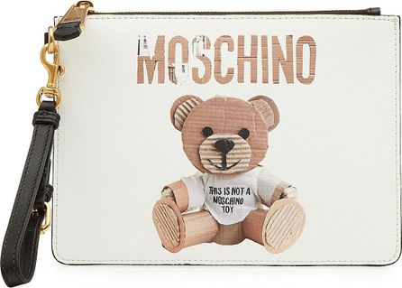 Moschino Printed Zip Clutch