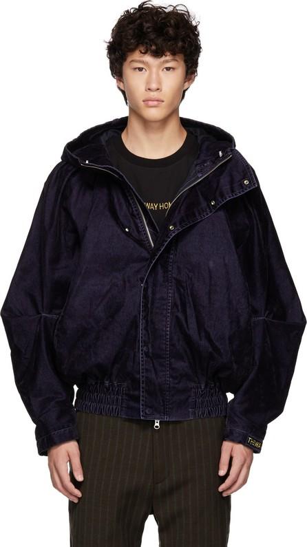 Feng Chen Wang Navy Draped Jacket