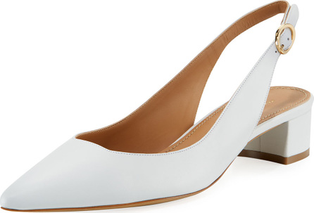 Mansur Gavriel Low-Heel Lamb Leather Slingback Pump