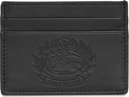Burberry London England Embossed Crest Leather Card Case