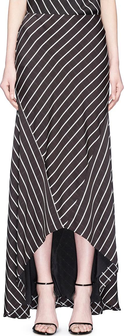 Haider Ackermann 'Biais' stripe handkerchief skirt