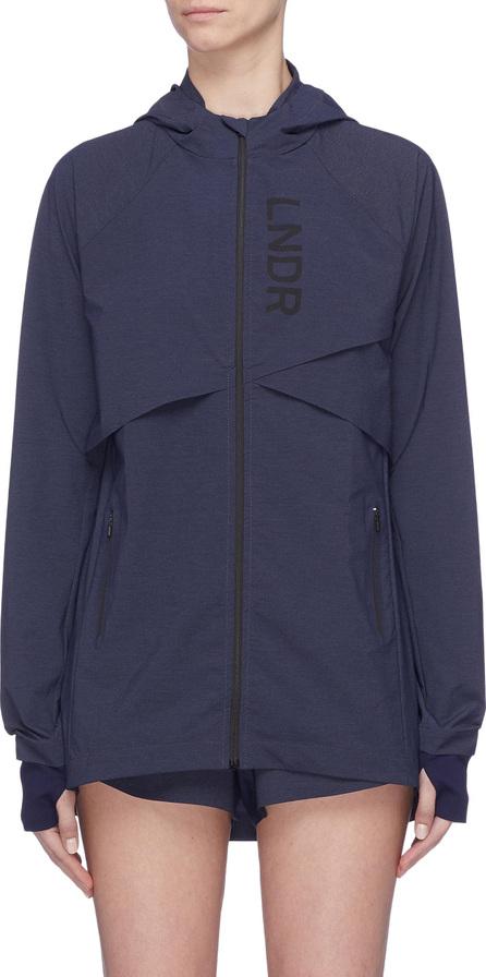 LNDR 'Drift' storm flap track hooded jacket