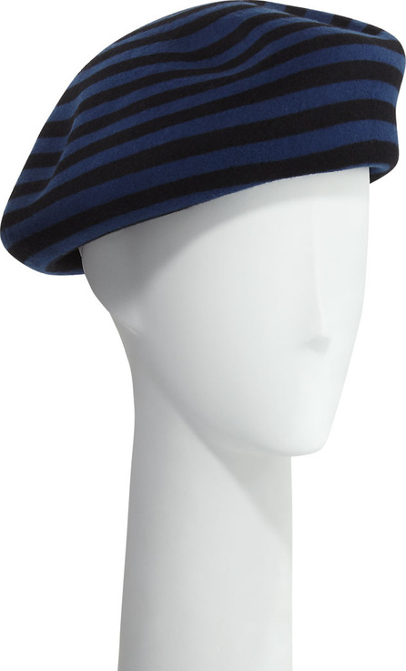 Marzi Striped Wool Beret Hat