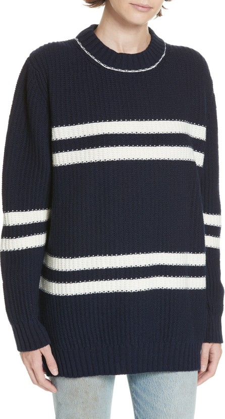&Daughter Tieve Stripe Cashmere & Cotton Sweater