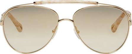Chloe Gold & Tortoiseshell Aviator Sunglasses