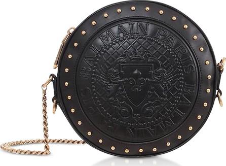 Balmain Genuine Embossed Leather Disco Bag