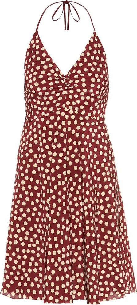 Saint Laurent Dotted silk crêpe de chine minidress