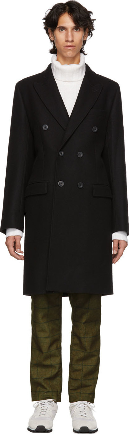 Éditions M.R Black Albert Double-Breasted Coat