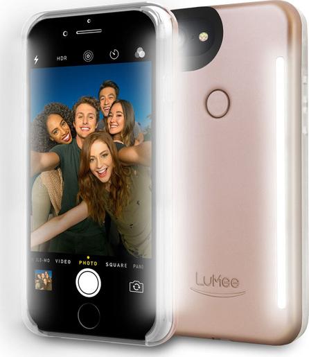 Lumee iPhone® 7 Plus Photo-Lighting Duo Case, Matte Rose