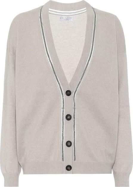 Brunello Cucinelli Bead-embellished cashmere cardigan