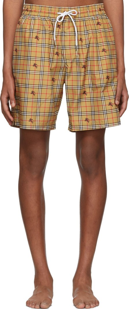 Burberry London England Beige IP Check Guildes Swim Shorts