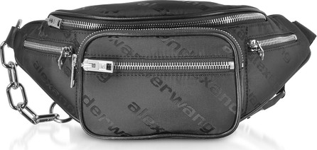 Alexander Wang Attica Black AW Jacquard Logo Soft Fanny Pack/Belt Bag