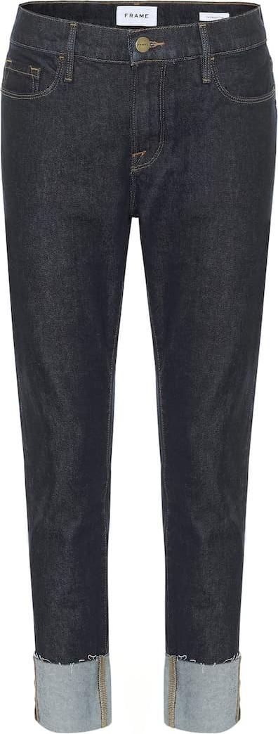 FRAME DENIM Le Garçon mid-rise cropped jeans