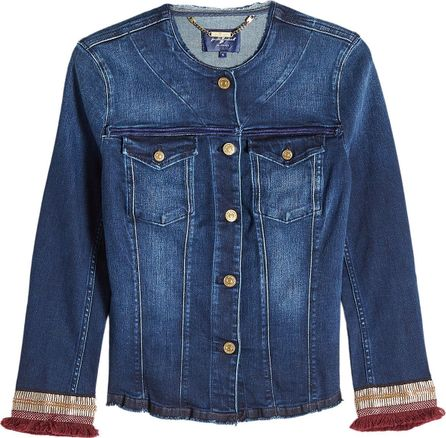 7 For All Mankind Embroidered Denim Jacket