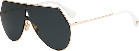 Fendi Eyeline Mitered Shield Sunglasses