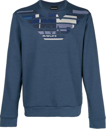 Emporio Armani Pattern logo sweatshirt
