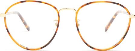 Stella McCartney Round-frame tortoiseshell glasses