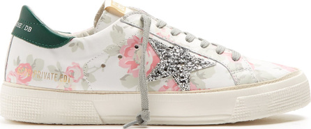 Golden Goose Deluxe Brand Super Star low-top floral-print leather trainers