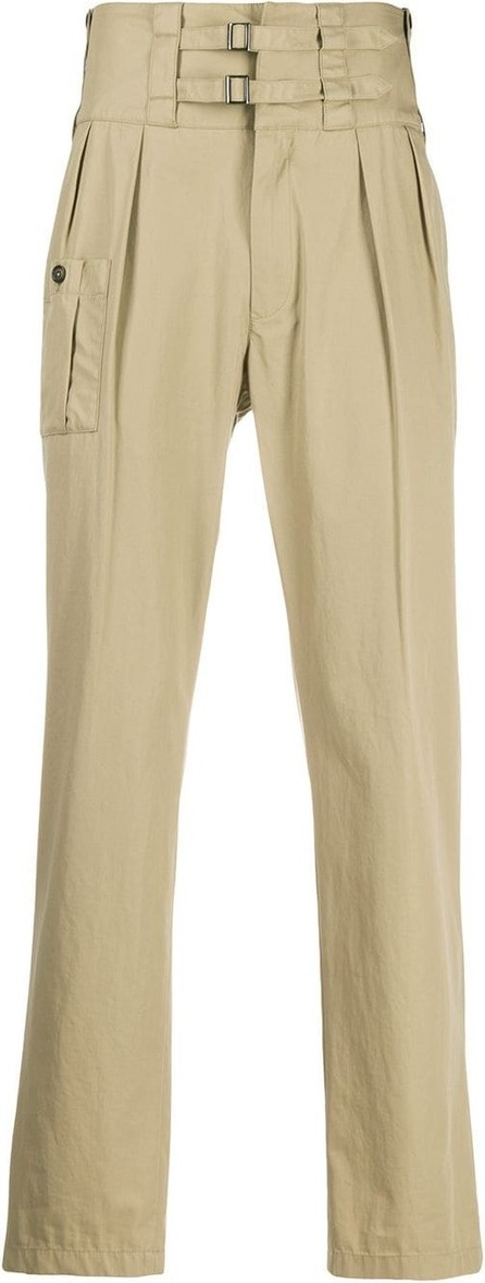 Dolce & Gabbana Double buckle tailored bush pants