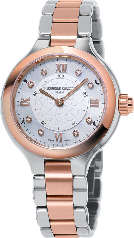 Frederique Constant 34mm Ladies Horological Stainless Steel & 18K Rose Gold Smart Watch