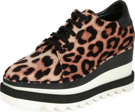 Stella McCartney Sneakelyse Leopard Wedge Sneaker