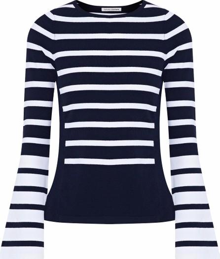 Autumn Cashmere Striped stretch-knit top
