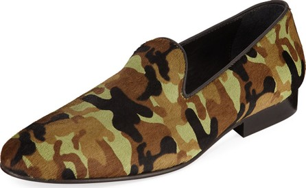 Donald J Pliner Men's Premo Camo-Print Calf Hair Slip-On Loafers