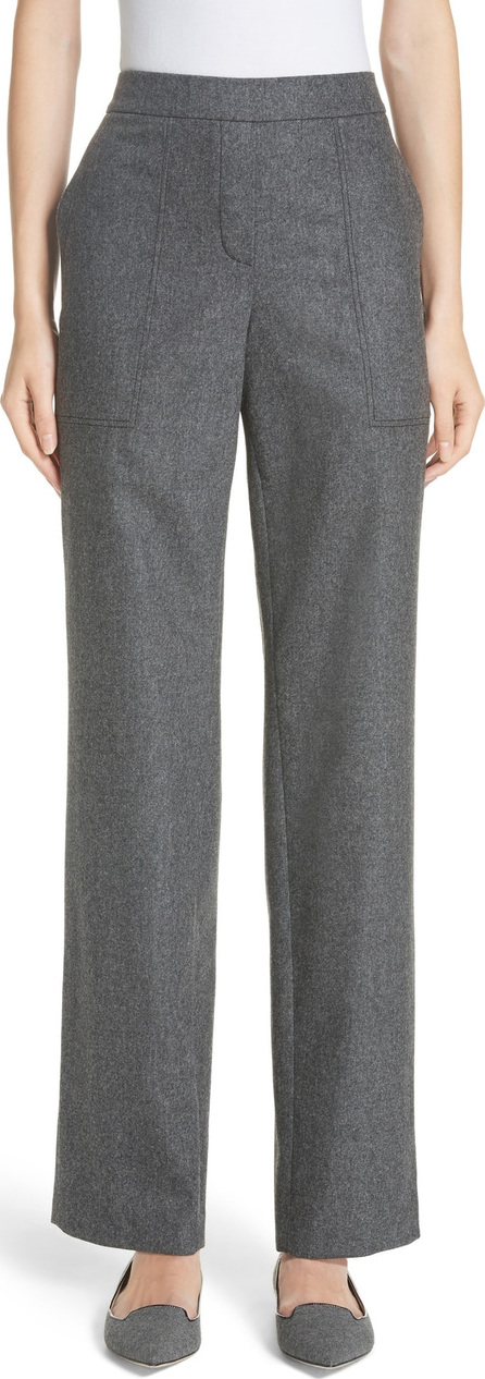 Lafayette 148 New York Fulton Elastic Waist Stretch Wool & Cashmere Pants