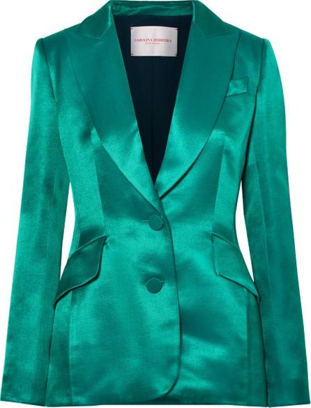 Carolina Herrera Satin-twill blazer