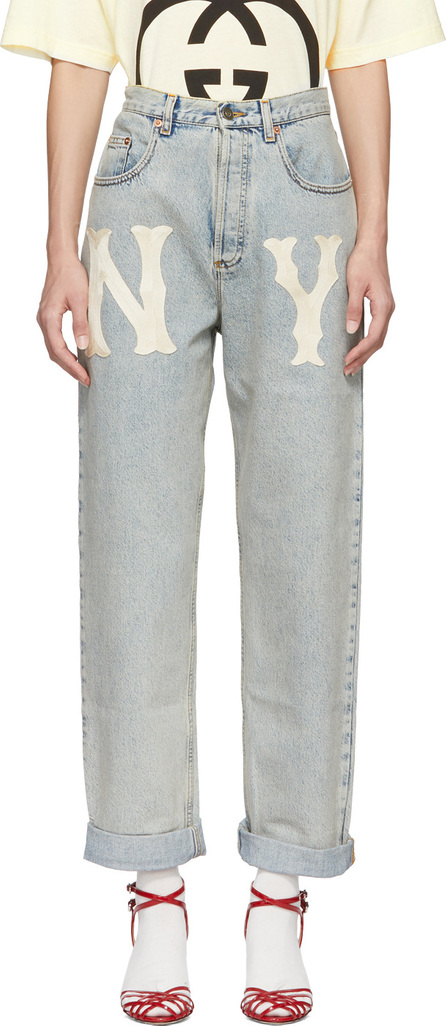 Gucci Blue NY Yankees Edition 80's Jeans