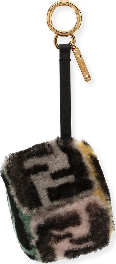Fendi Shearling FF Cube Charm for Handbag