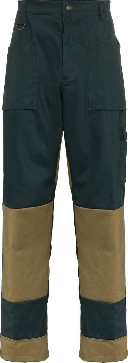 GmbH Viktor straight leg contrasting panel trousers