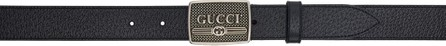 Gucci Black Logo Buckle Belt