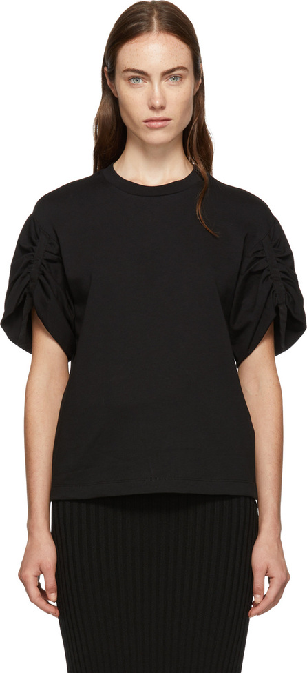3.1 Phillip Lim Black Gathered Sleeves T-Shirt