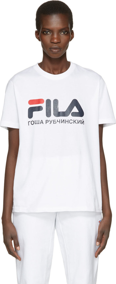 Gosha Rubchinskiy White Fila Edition T-Shirt