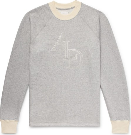 Aimé Leon Dore Logo-Embroidered Mélange Loopback Cotton-Jersey Sweatshirt
