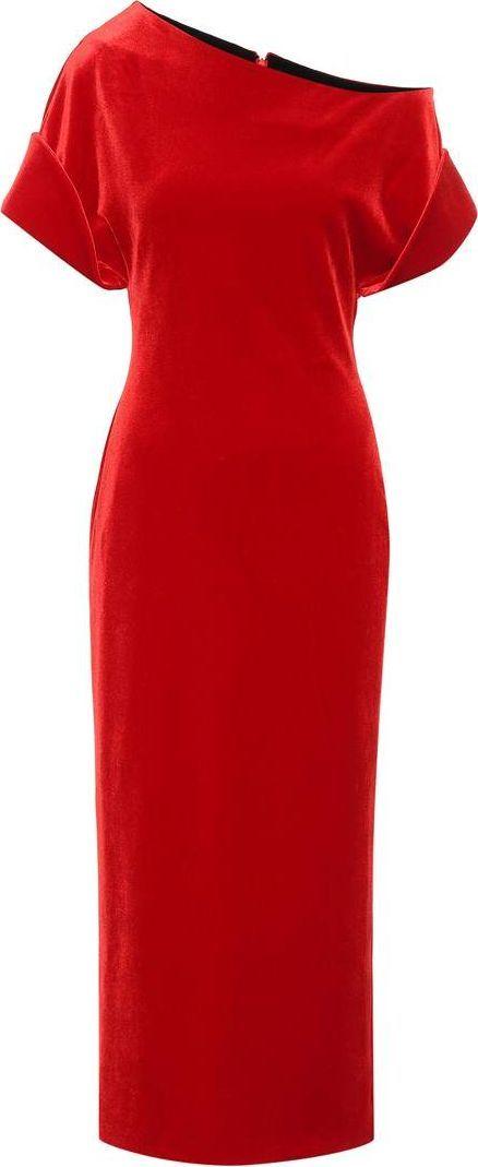Christopher Kane Off-the-shoulder velvet dress