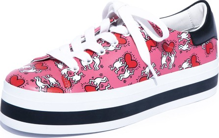 Alice + Olivia Walking Heart Platform Low-Top Sneakers