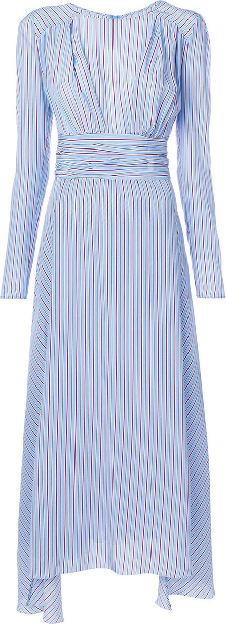 Ermanno Scervino Gathered striped dress