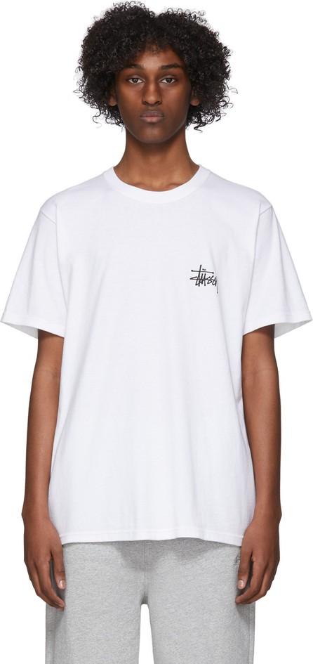 Stussy White Basic Logo T-Shirt