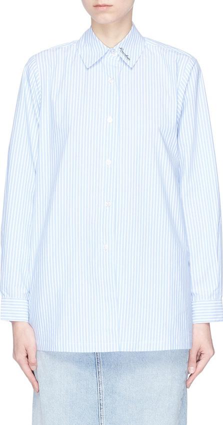 Etre Cecile 'Frenchie' star print stripe poplin shirt